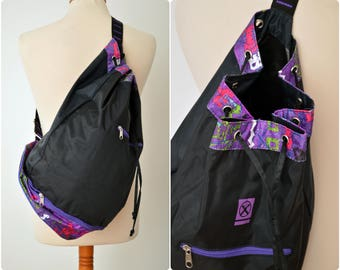 80s/90s neon RUCKSACK /  backpack / Raiffeisen bank / gym bag