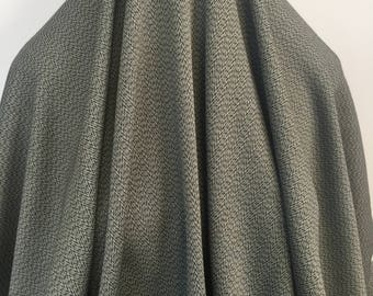 17-260 Olive and Black Mini Woven Pattern - Sold by the Yard