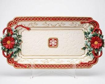 Poinsettia Platter (10293)