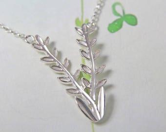 Sterling Silver Necklace / Lavender