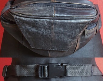 Real leather 80's fanny pack