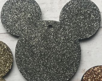 Glittered Mickey Mouse Keychain