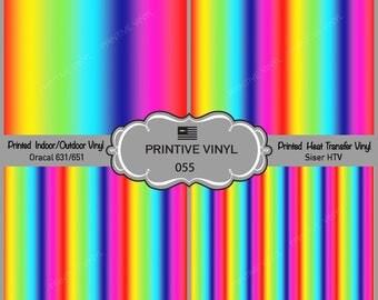Rainbow Spectrum Pattern Printed Vinyl/Siser HTV/ Oracal/ Indoor Vinyl/ Outdoor Vinyl/ Heat Transfer Vinyl- 055