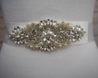 Bridal Sash, Crystal Wedding Sash Belt, Wedding Sash, Bridal Sash Belt, Wedding Belt, Rhinestone Bridal Sash Belt, ITEM #SSVB