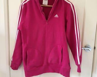 Vintage Adidas Hot Pink Jumper SIZE 12 AUS