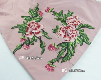 Embroidery Flower Patches Clothing Appliques