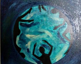 acrilic painting on canvas decor wall decor home decor