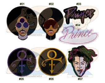 Prince Embroidered Patches Word Logo Purple Rain Pop Rock HitnRun Love Symbol Joker Face Album