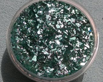 Green Shattered Glitter Slime
