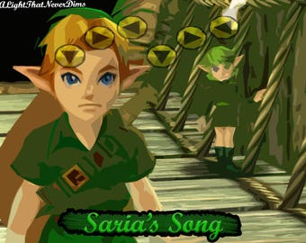 Saria's Song High Quality Print (11 in x 8.5 in)
