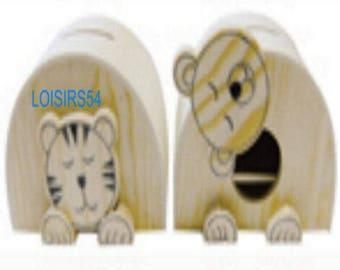 Teddy 115 mm x 90 mm x 82 mm wooden piggy bank