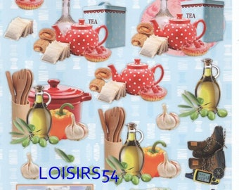 Leaf 3D tea and cakes for decoration