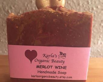 Merlot Wine Soap/ Handmade Vegan/ Valentine's Soap