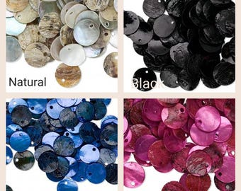 mussel shell drop beads, 100 mussel shell drop beads flat round 10mm, mussel shell drop 100 beads 10mm flat round, flar round mussel shell.