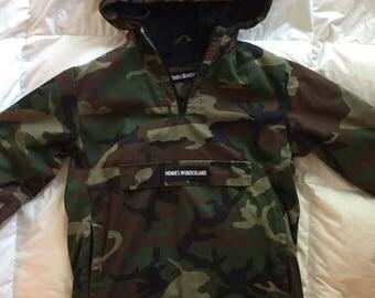 Homies Wonderland limited edition camo 1/4 zip coat