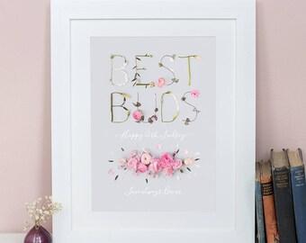 Personalised Best Buds Print