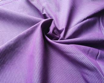 0.5yard cotton Fabric purple Stripes pattern