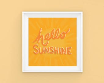 Sunshine | Happy | Typography | Type  | Apartment | Poster
