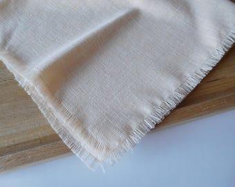 Linen napkins, hand-frayed, Set of 4