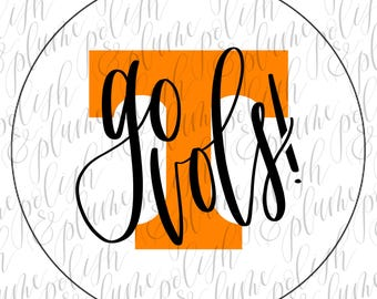 "University of Tennessee Go Vols 3"" Gameday Buttons"