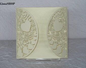 Laser cut invitation,Elegant invitations, Modern invitations,wedding invitations,wedding laser cut invitations