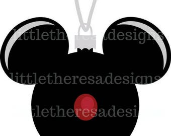 Mickey Black Ornament Transfer,Digital Transfer,Digital Iron On ,Diy