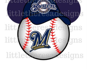 Milwaukee Brewers Mickey Head Transfers,Digital Transfer,Digital Iron On,Diy