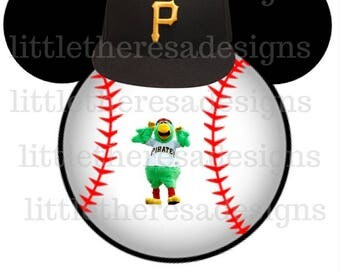 Pittsburgh Pirates Mickey Baseball Head Transfer,Digital Transfer,Digital Iron On,Diy