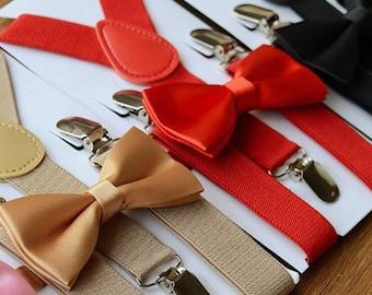 Boy Suspenders Bow Tie