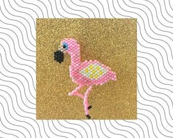 Broche Miyuki Flamingo