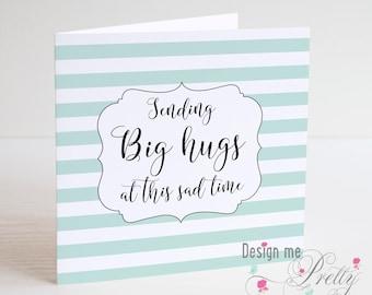 Sending Big Hugs Sympathy Card