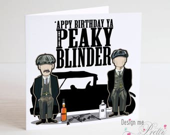 Peaky Blinders Birthday Card - Tommy and Arthur