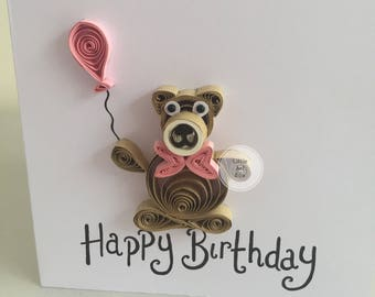 Handmade personalised birthday card, for him, for her. Unique design made for a special person.