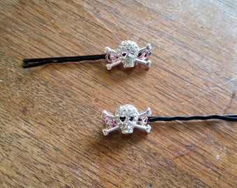 Scull and Crossbones Hair Pins