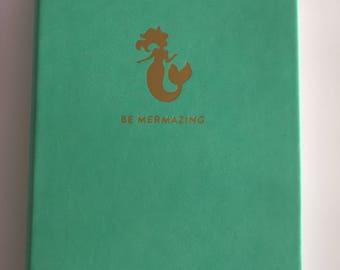 """Chic & Glamorous """"Be Mermazing"""" Mermaids Notebook Journal Diary"""