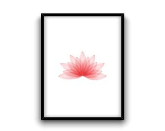 Lotus flower poster | Lotus flower | Watercolor lotus flower | Lotus flower print | Lotus flower wall decor