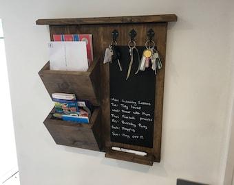 Kitchen Organizer, Post holder / Key Rack / Blackboard / FREE Pen ( Handmade )