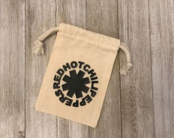 RHCP-Red Hot Chilly Peppers-Bands-Gifts-Muslin Bags-Thank You Gifts-Gifts-Party