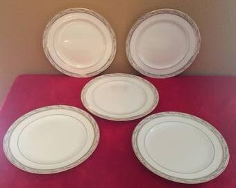 La Belle by POPE GOSSER Set of Five (5) Dessert/Pie Plates