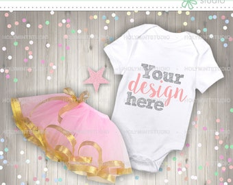 Baby Onesie Mockup, Baby Mockup, Onesie Mockup, Bodysuit Mockup, Tutu Template, Baby Clothes Mockup, Baby Onesie Template, Stock Photo