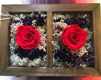 Red rose flower arrangement Farmers market