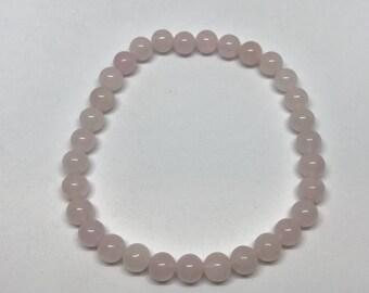 Rose Quartz Stretch Bracelet - 6mm beads