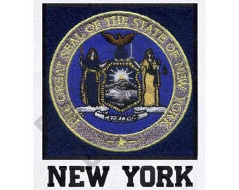 State Seal - Machine Embroidery Design, New York State Seal