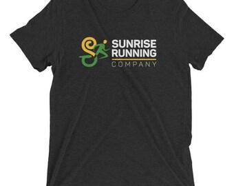 Men's Sunrise Run Co ''Official'' Training TriBlend T-Shirt - Sunrise Running Company - Running T-Shirt