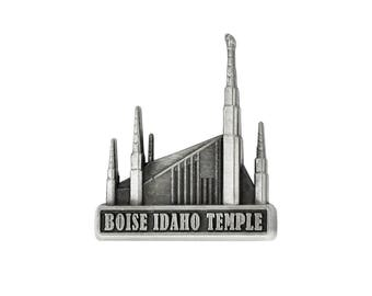 Boise Idaho Temple Silver Pin - LDS Gifts