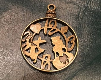 Alice In Wonderland Clock Charm