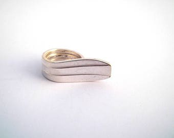 T 58 silver spoon ring