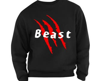 Beast men's sweatshirt jumper