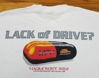 Vintage 90s 1998 NO FEAR Lack of Drive Viagra Shirt Size Medium fits large