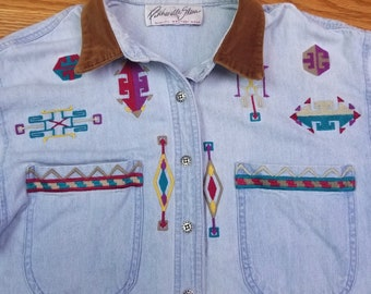 Vintage Panhandle Slim Western Embroidered Wrangler Shirt